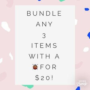 🐞Bundle 3 for $20!